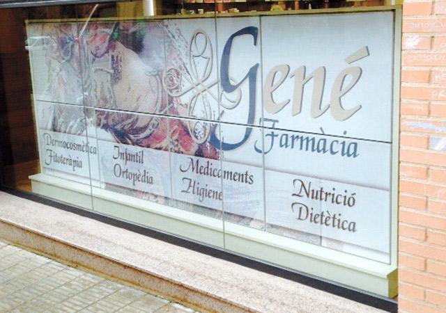 Diseño de Retroiluminado para la Farmacia Gené | Frco. Javier Lekuona Diseño imagenes gran formato