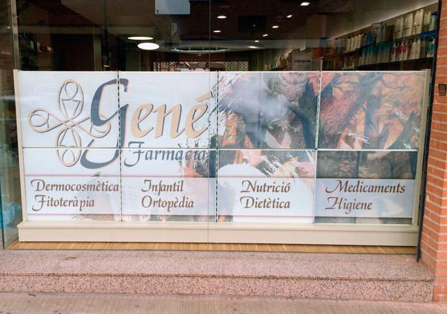Diseño de Retroiluminado para la Farmacia Gené | Frco. Javier Lekuona Diseño gran formato