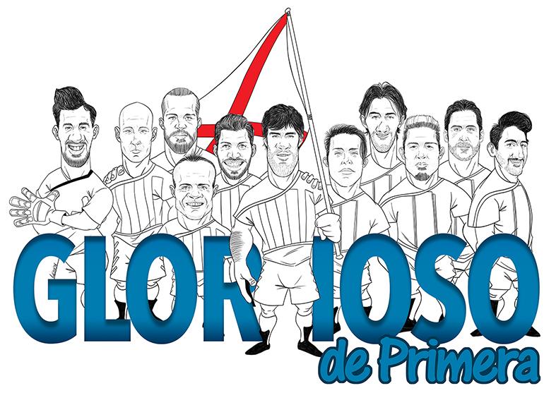 Camiseta Ascenso primera division Deportivo Alaves | Frco. Javier Lekuona Ilustrador
